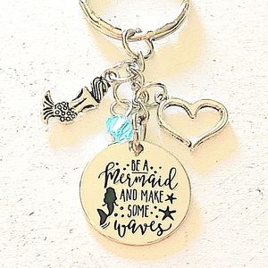 ✨3 for $30✨Be a Mermaid Make Some Waves Keychain